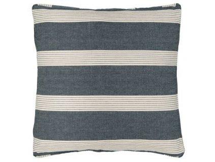 Povlak na polštář - modrý s proužky