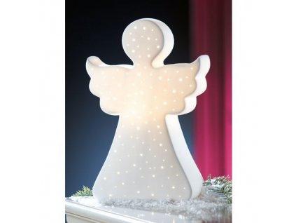 Porcelánová lampa - andílek velký