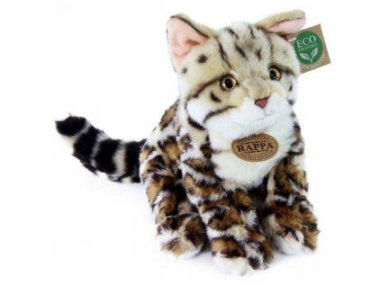 PLYŠ Kočka bengálská 23cm sedící Eco-Friendly *PLYŠOVÉ HRAČKY*