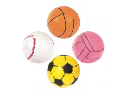 Nafukovací míč SPORT - mix 4 druhy, 41cm