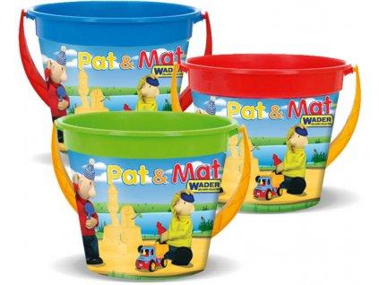 WADER Kyblík na písek Pat a Mat 3,4l 3 barvy plast
