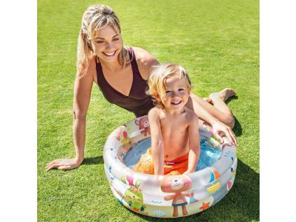 INTEX Baby bazének dětský nafukovací kruh 61x22cm bílý 57106