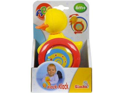 SIMBA Baby kachnička veselá chrastítko na kolečkách kývá hlavičkou pro miminko