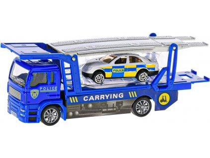 Auto záchranáři 15cm zpětný chod hasiči / policie kov 4 druhy