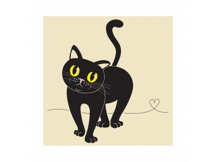 Plátěná taška - Kočka