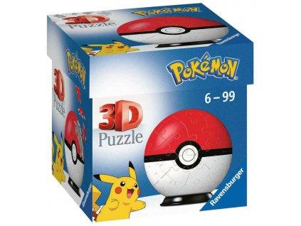 RAVENSBURGER Puzzleball 3D Pokéball skládačka 54 dílků Pokémon