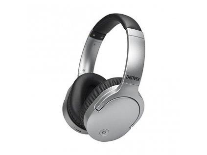 Bezdrátová sluchátka Denver Electronics BTN-207 Stříbrný  + Dárek zdarma
