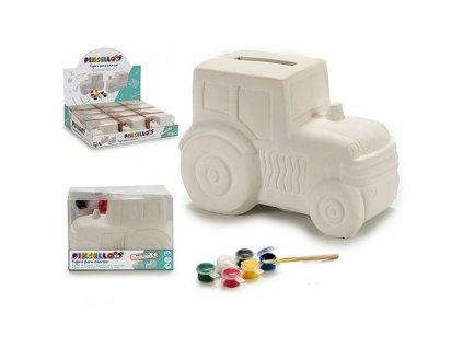 Pokladnička (9,2 x 9 x 13 cm) Traktor