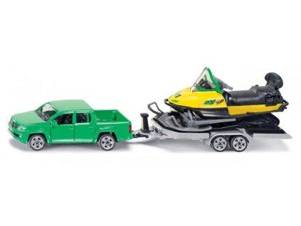 SIKU Super - Auto s tahačem a sněžním skútrem
