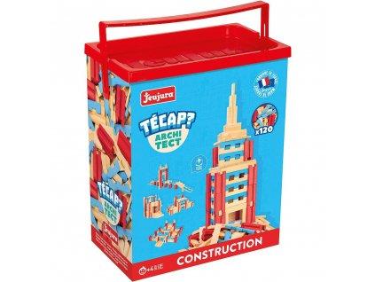 Jeujura Dřevěná stavebnice Técap Architect 120 dílů  + Dárek zdarma