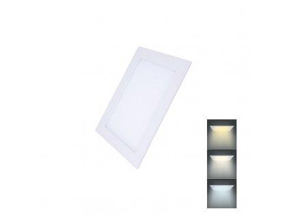 Solight LED mini panel CCT, podhledový, 6W, 450lm, 3000K, 4000K, 6000K, čtvercový