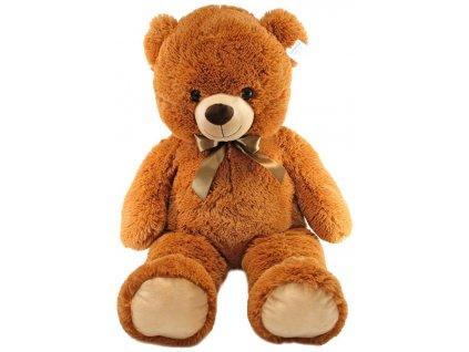 PLYŠ Medvěd hnědý 90cm s mašlí *PLYŠOVÉ HRAČKY*