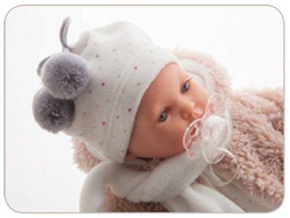 KIKA - realistická panenka se zvuky 27 cm  + Dárek zdarma