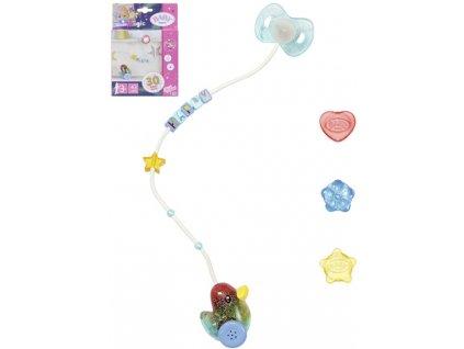 ZAPF BABY BORN Dudlík interaktivní na baterie pro panenku miminko Světlo Zvuk