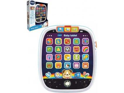 Vtech Baby tablet interaktivní naučný na baterie Světlo Zvuk CZ plast