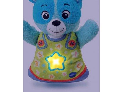Vtech PLYŠ Baby usínáček medvídek mluví s melodiemi na baterie CZ Světlo Zvuk