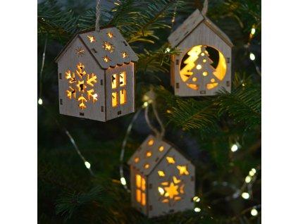 LED závěsné domečky - 5 motivů na výběr Santa motiv