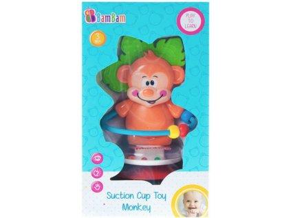 ET BAM BAM Chrastítko opička s přísavkou plast pro miminko
