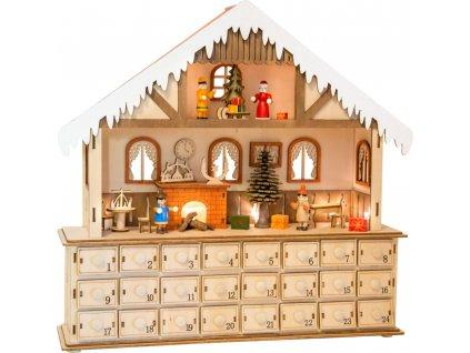 Small Foot Dřevěný adventní kalendář kouzelný vánoční dům - poškozený obal  + Dárek zdarma