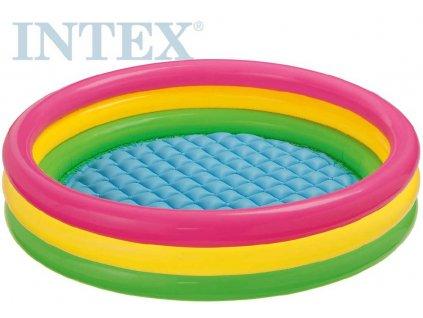 INTEX Bazén dětský kulatý 147x33cm nafukovací brouzdaliště 57422