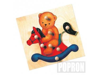 Puzzle medvěd maxi úchytky