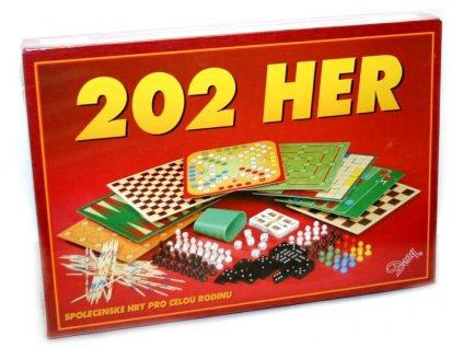 HRA Velký soubor 202 her v krabici *SPOLEČENSKÉ HRY*