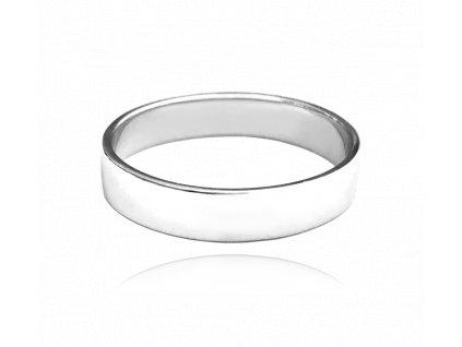Stříbrný snubní prsten MINET vel. 68