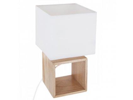 Béžová dřevěná lampa