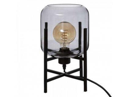 Stolní lampa - kouřové sklo