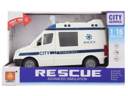 Auto městská policie baterie