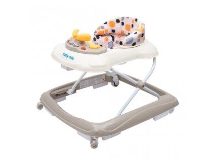 Dětské chodítko Baby Mix s volantem a silikonovými kolečky