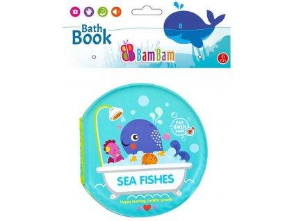 BAM BAM Baby knížka mořská zvířátka pískací do vany na koupání pro miminko