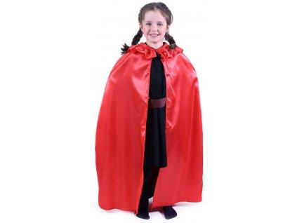 KARNEVAL Plášť Červená Karkulka (104-146cm) 5-14 let KOSTÝM