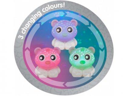 Playgro - Usínací lampička medvídek s projektorem - růžovo-bílý