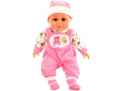 Panenka miminko 30cm růžové dupačky měkké tělíčko na baterie Zvuk