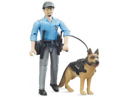 BRUDER 62150 Set figurka policista + policejní pes