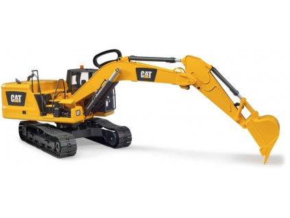 BRUDER 02483 Model bagr pásový Caterpillar žlutý stavební stroj