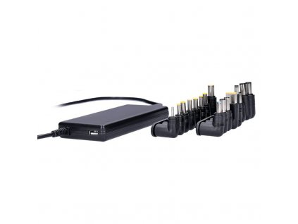 Solight univerzální zdroj pro notebooky, 90W, 16 koncovek, automatický