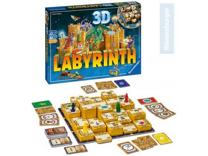 RAVENSBURGER Hra Labyrinth 3D *SPOLEČENSKÉ HRY*