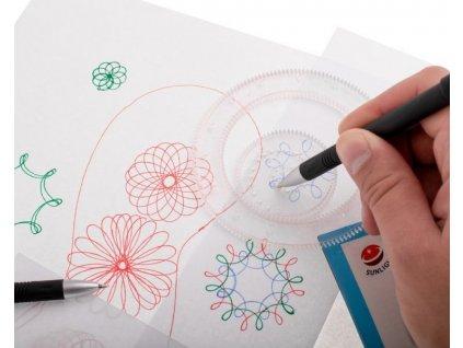 Spirograf - set kreslícíh šablon