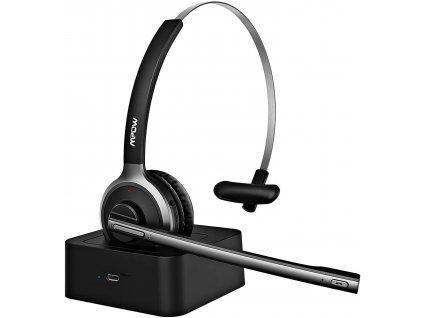 MPOW M5 PRO Business headset - bezdrátová sluchátka, černá