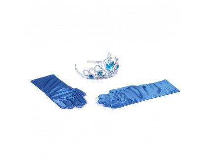 Sada princezna rukavice s korunkou
