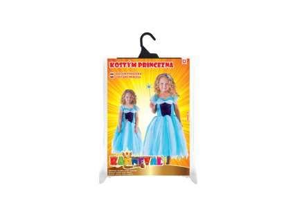 Dětský kostým princezna modrá (S)