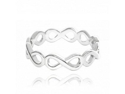 Stříbrný prsten MINET FOREVER vel. 57