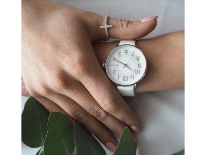 Stříbrný prsten MINET KŘÍŽEK s bílými zirkony vel. 50