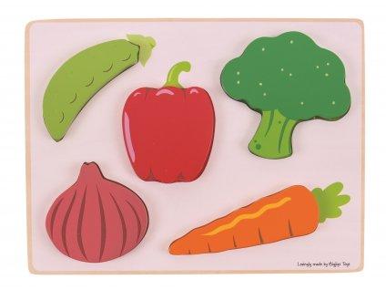 Bigjigs Toys Vkládací puzzle zelenina