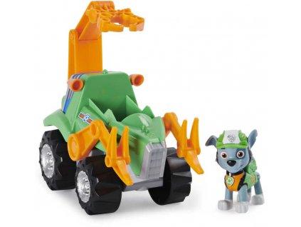 SPIN MASTER Tlapková Patrola Rocky set auto tematické s figurkou a dinosaurem