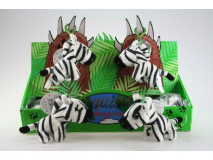 Plyš Zebra klíčenka