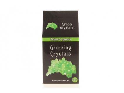 Mini chemická sada - rostoucí krystaly - zelené