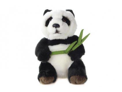 Plyš Panda s listem 18 cm